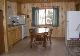 Cabin #3 Kitchen & Dining Area