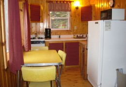 Cabin #5 - Kitchen & Dining Area