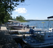 Minnesota Resort Dock - Knotty Pines, Boulder Lake, Nevis, MN