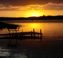 Minnesota Resort Sunset - Knotty Pines, Boulder Lake, Nevis, MN