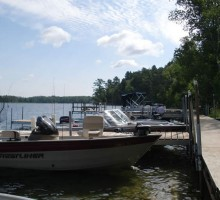 Boats on Boulder Lake - Knotty Pines Resort