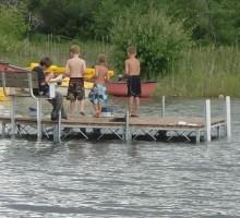 Fun on Boulder Lake - Knotty Pines Resort
